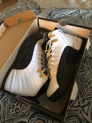 Nike Air Jordan Retro 12 | Taxi Black White Gold for Sale in Litchfield Park, AZ