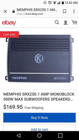 Memphis amp 250 watt 1 channel. $40 for Sale in Modesto, CA