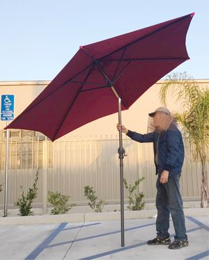 New in box large 10 feet diameter tilt adjustable crank open outdoor patio umbrella waterproof sun shade canopy for Sale in Whittier, CA