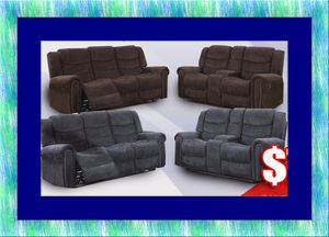 Grey or chocolate recliner set free delivery for Sale in Ashburn, VA