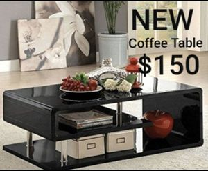 Coffee Table In Black Finish for Sale in West Covina, CA
