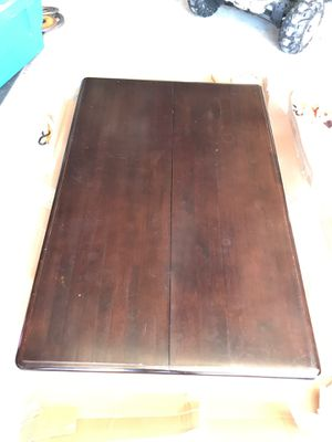 Solid wood espresso kitchen table with folding butterfly leaf extension for Sale in El Cajon, CA