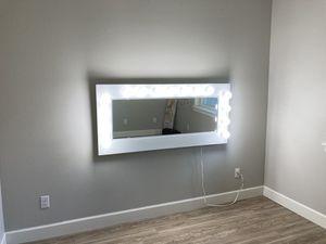 Handmade vanity mirror on flat screen tv mount for Sale in Portland, OR