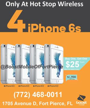iPhone 6s only $25 when you switch to boost for Sale in Fort Pierce, FL