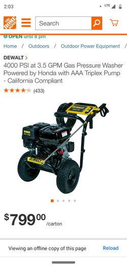 DeWalt 4000 PSI power washer for Sale in Swansea,  IL