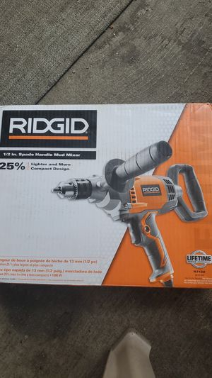 Ridgid 1/2 in spade handle mud mixer for Sale in Columbus, OH