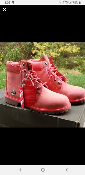 Timberland Boots Brand New!Pink/Coral for Sale in Woodbury Heights, NJ