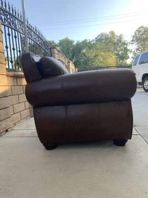Brown Leather Armchair for Sale in Corona, CA