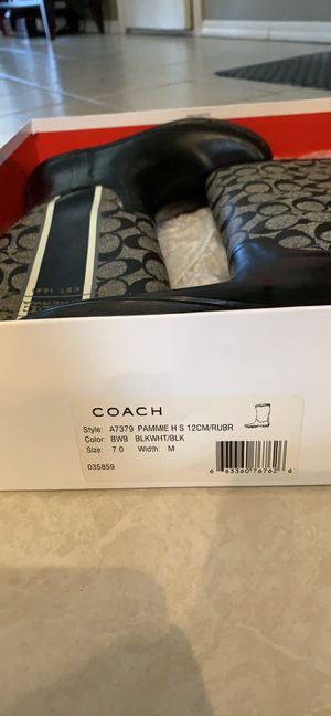 Coach rain boots for Sale in Staten Island, NY