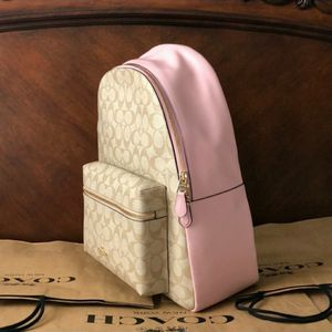 Coach Backpack Khaki & Pink Canvas Bag Large for Sale in Fort Worth, TX