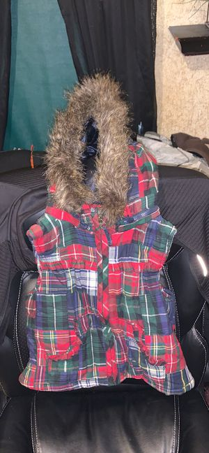 Gap kids plaid vest with hood for Sale in Avis, PA
