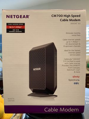 Netgear CM700 Docsis 3.0 Cable Modem for Sale in Poway, CA