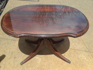 Small coffee table w glass attachment antique. for Sale in Denver, CO
