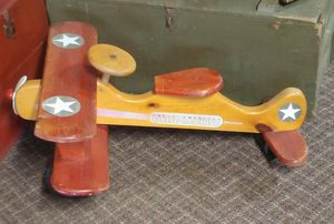 Wood airplane peddle toy for Sale in NO FORT MYERS, FL