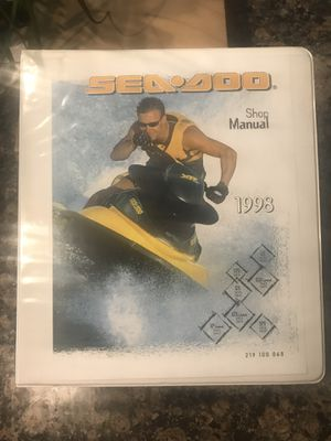 Seadoo shop repair manual for Sale in Ballwin, MO