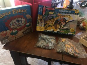 Gone fishing game and 3 puzzles for Sale in Madera, CA