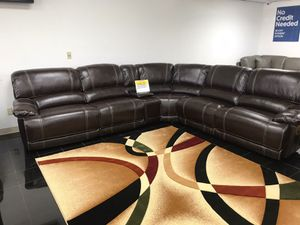 Venice Brown Reclining Sectional Sofa $999. NO CREDIT CHECK FINANCING for Sale in Tampa, FL