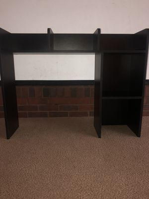 Black Over the Desk Shelf for Sale in Wichita, KS