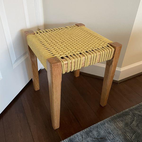 Bohemian Yellow Stool/Small Table