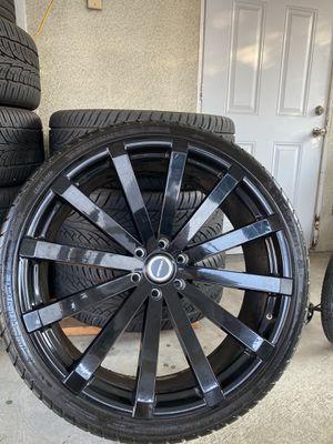 STRADA 26 BLACK RIMS (USED) for Sale in Whittier, CA