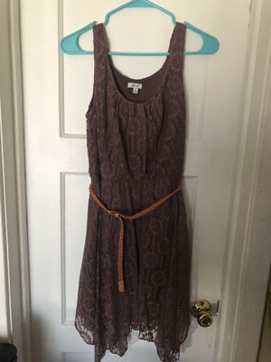 Plum Brown Dress with Belt for Sale in Maywood, CA