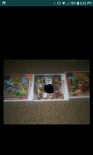Nintendo 3ds and Nintendo DS games 10 dollars each,check description for Sale in Fort Worth, TX