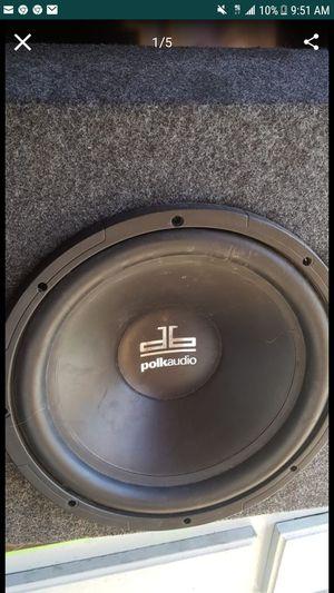 Polk audio 12 inch single speaker in box for Sale in Las Vegas, NV
