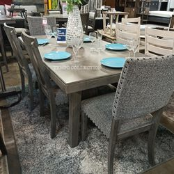 NEW, GRAY DINING SET, 6 PC. for Sale in Santa Ana,  CA