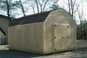 New T1-11 Gambrel 12' x 16' Shed for Sale in Rehoboth, MA