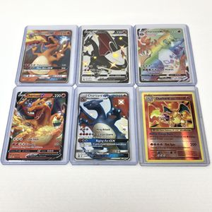 Pokemon Charizard Lot Champions Path, Hidden Fates Pulled And Sleeved By Me for Sale in New Port Richey, FL