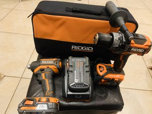 Ridgid gen 5 brushless hammer drill and impact set 18v new for Sale in Brownsville, TX