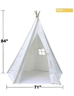 7 ft Canvas and wood teepee tent for babies, kids, parties and play NEW for Sale in Miami, FL
