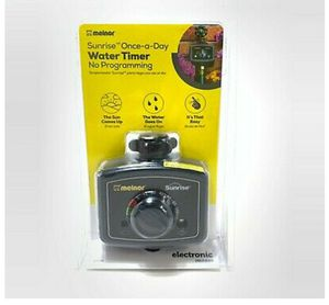 Melnor Sunrise Once Day Water Sprinkler Timer No Programming Auto Light Sensor for Sale in Weymouth, MA