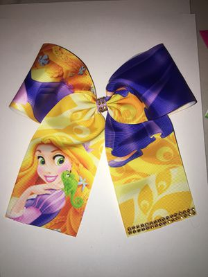 Large Disney Rapunzel Cheer Bow for Sale in Huntington Beach, CA
