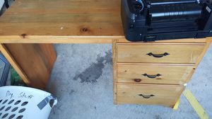 Solid pine computer desk with 3 drawers for Sale in Christiansburg, VA