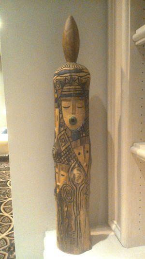 Exquisite Reuben Ugbine Iroko Sculpture for Sale in Bethesda, MD