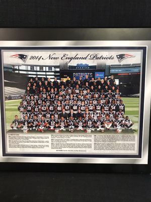 2014 patriots team photo. Wooden plaque for Sale in Bellingham, MA
