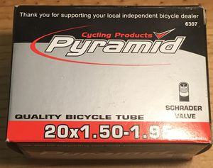 Cycling Products Pyramid 20*1.50-1.95 Tube for Sale in McLean, VA