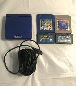 Nintendo Game Boy Advance SP Cobalt Blue for Sale in Bakersfield, CA