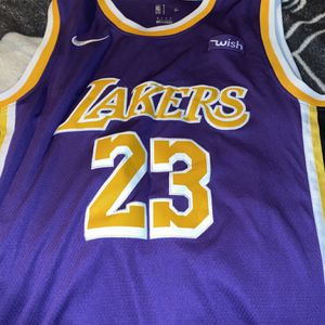 LeBron Purple And Gold LA Jersey Medium for Sale in Canton, OH
