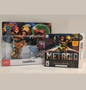 Nintendo Metroid Samus Returns Special Edition 3DS + Samus Metroid amiibo 2 pack for Sale in New York, NY