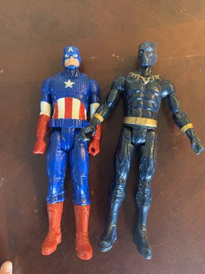 Action figures. Captain America and black panther for Sale in Peoria, AZ