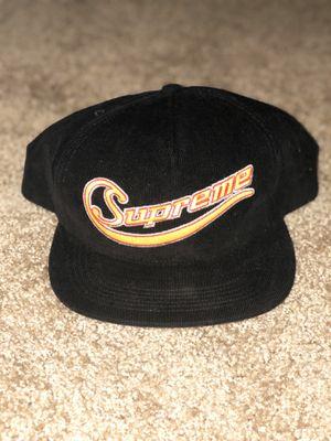 SUPREME Metallic Logo Corduroy 5-Panel Hat for Sale in Lynnwood, WA