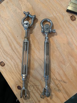Stainless steal shackles for sailboats or patio for Sale in San Jose, CA