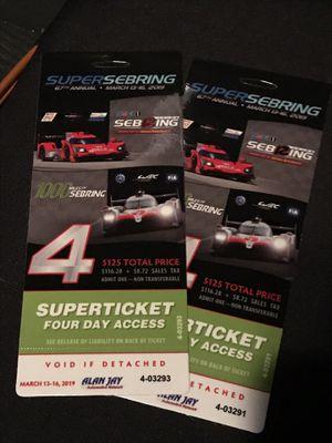12 Hours of Sebring Tickets for Sale in Sebring, FL