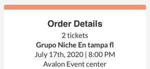 Grupo Niche concert tickets!!! for Sale in Tampa, FL