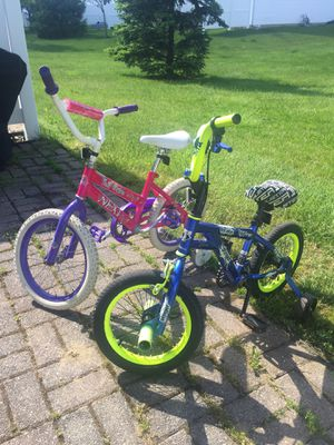 """16""""&14""""kids bike with training wheels for Sale in CANAL WNCHSTR, OH"""
