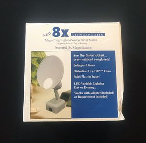 Travel Floxite 8X Magnifying Makeup Vanity Mirror Flat Folding for Sale in Davenport, IA