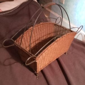 Wicker yarn/magazine. Holder for Sale in St. Louis, MO
