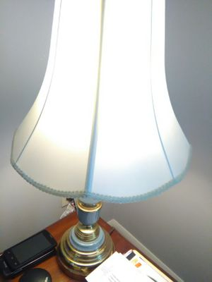 Nice lamp had two but only one works blue for Sale in Glen Allen, VA